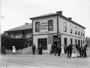 Sumner's tram track ran past Geo Vincent's hotel establishment in its prime.